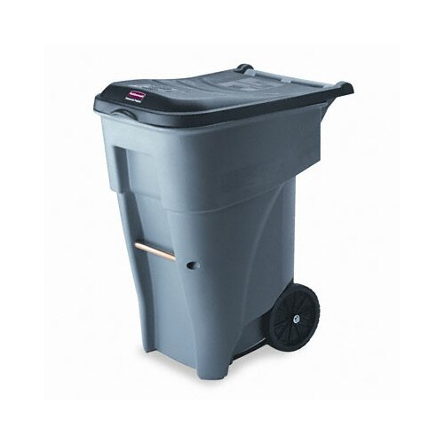 Rubbermaid Commercial Products Brute Rollout Heavy-Duty Waste Square Container, 65 Gal