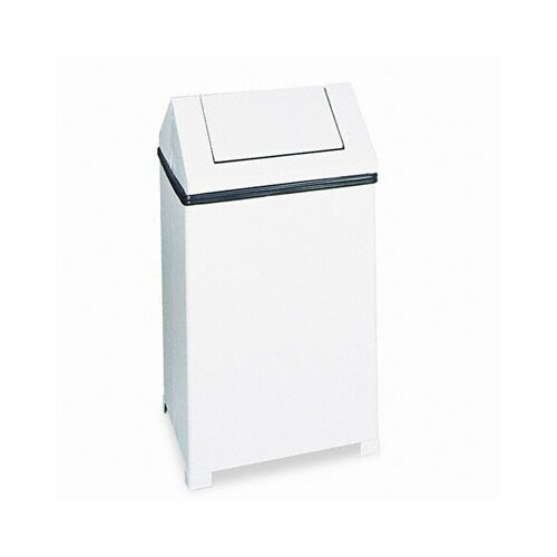Rubbermaid Commercial Products 40 Gallon Fire-Safe Swing Top Square Receptacle