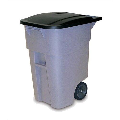 Rubbermaid Commercial Products Brute Rollout Container With Lid - 50 Gallon