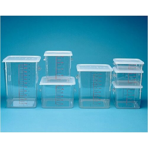 Rubbermaid Commercial Products Polycarbonate Square Storage Container (4 U.S. qt.)