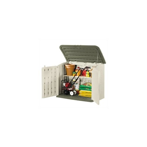 Rubbermaid Commercial Products Large Horizontal 4.5ft. W x 3ft. D Storage Shed