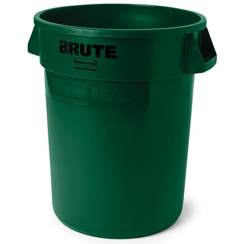 Rubbermaid Commercial Products Round Brute Container in Dark Green