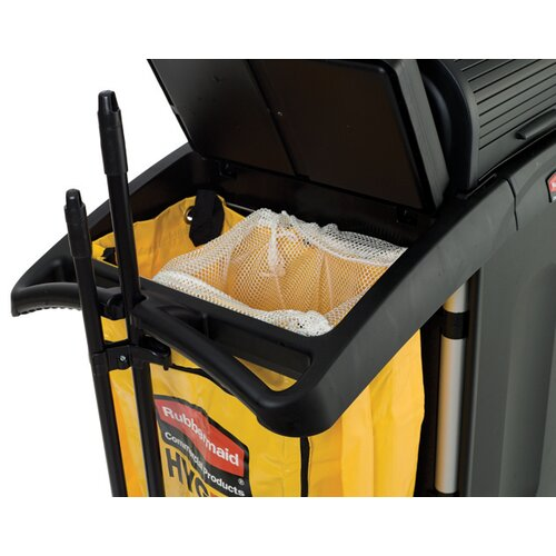 Rubbermaid Commercial Products High-Security Healthcare Cleaning Cart in Black