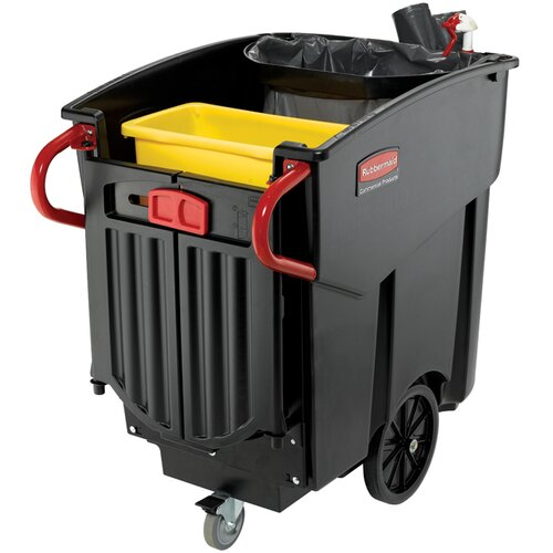 Rubbermaid Commercial Products MegaBrute Mobile Waste Collector in Black