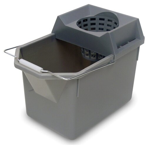 Rubbermaid Commercial Products Pail / Strainer Combination in Steel Gray
