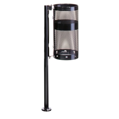 Rubbermaid Commercial Products Howard Towne 10 Gal.  Perforated Steel Pole/Wall Mount Receptacle