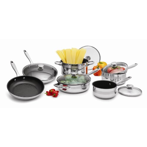 Stainless Steel 11-Pieces Cookware Set