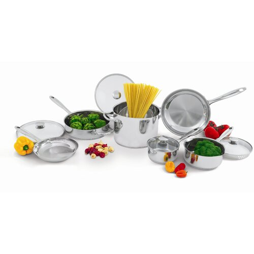 Wolfgang Puck® Stainless Steel 10-Piece Cookware Set