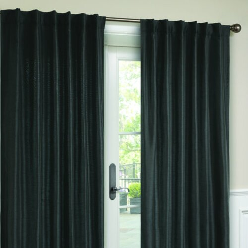 Victoria Classics Interlined Faux Silk Rod Pocket Curtain Single Panel