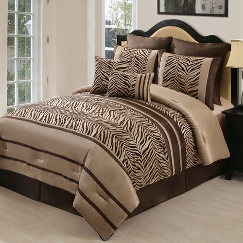 Laken Zebra 8-Piece Comforter Set