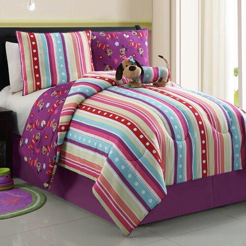 Poodle Reversible Mini Comforter Set