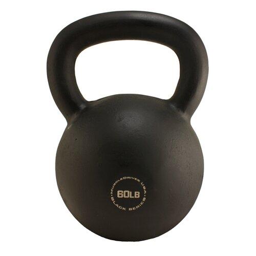 Muscle Driver USA 60 lb Black Series Kettlebell