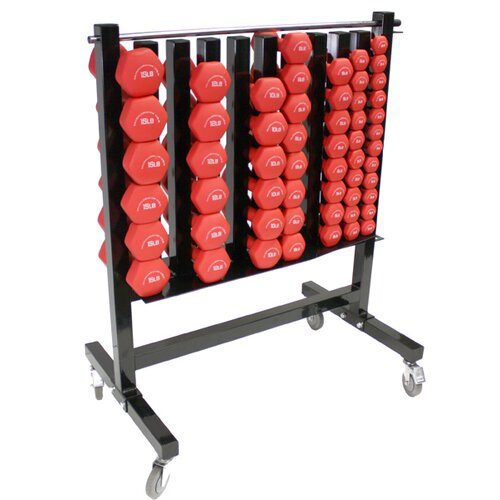 Muscle Driver USA Dumbbell Rolling Storage Rack