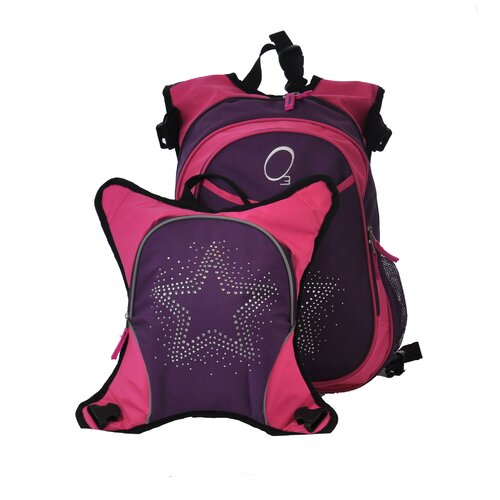 O3 Innsbruck Bling Rhinestone Star Diaper Bag Backpack with Detachable Lunch Cooler