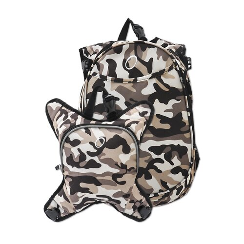 O3 Munich Camoflage School Backpack with Detachable Lunch Cooler