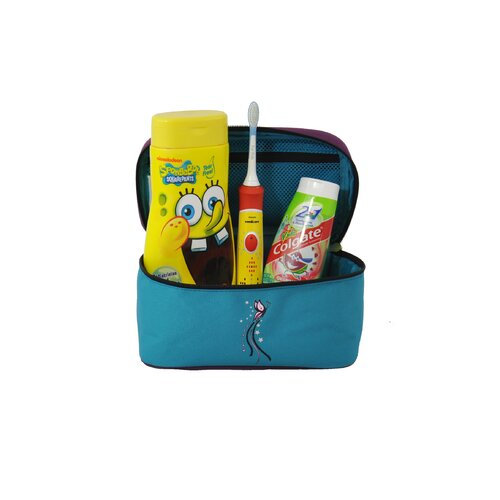 Obersee O3 Kids Butterfly Toiletry and Accessory Train Case Bag