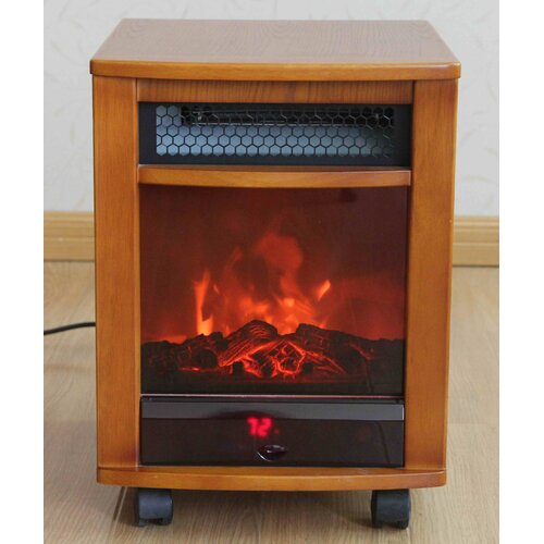 comfort fireplace 1 500 watt infrared cabinet portable space heater