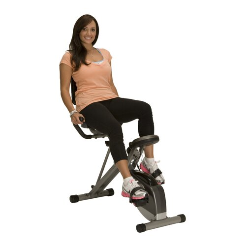 Exerpeutic Fitness 400XL Space Saver Recumbent Bike