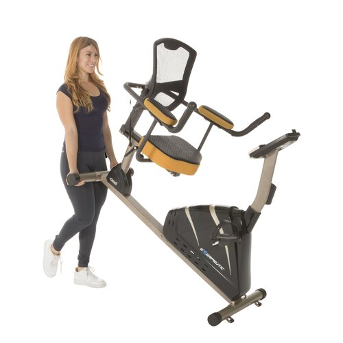 Exerpeutic Fitness 4000 Mobile App Tracking Magnetic Recumbent Bike