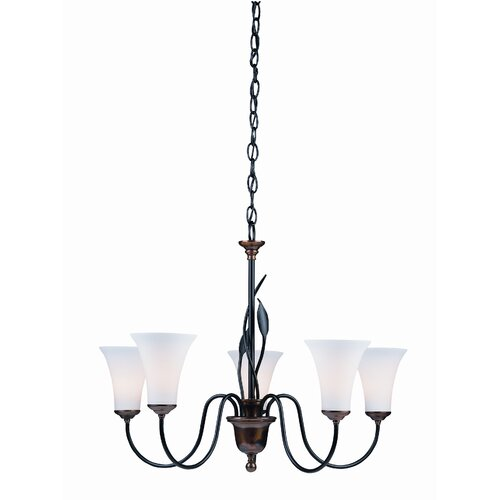 Hubbardton Forge Forged Leaves 5 Light Chandelier
