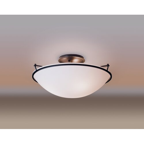 Hubbardton Forge Medium Plain 3 Light Semi Flush Mount
