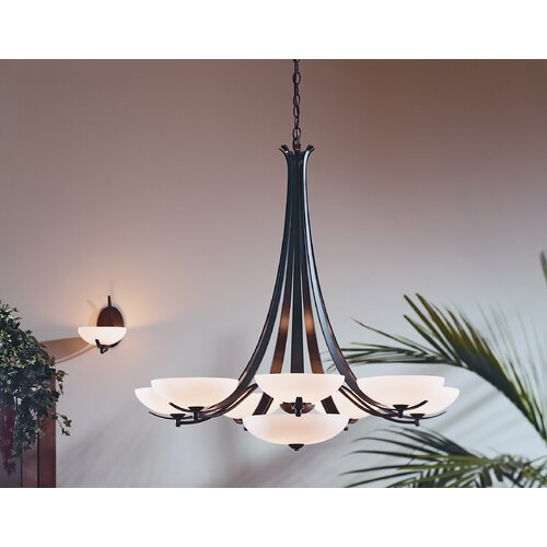Hubbardton Forge Aegis 9 Light Chandelier