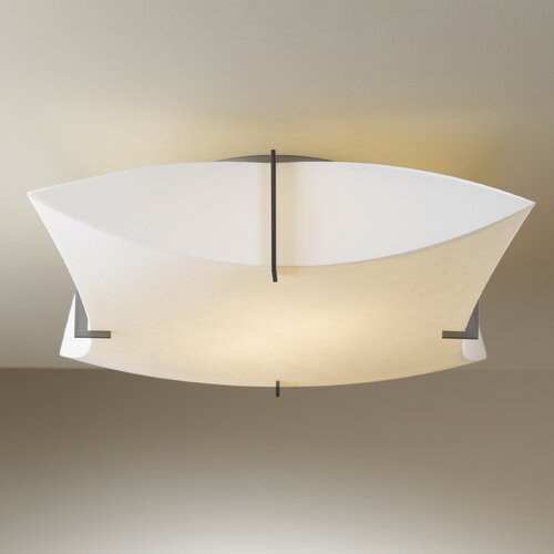 Hubbardton Forge Bento Large Shade 1 Light Semi-Flush Mount