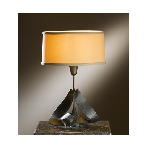 "Hubbardton Forge Lotus 18.3"" H Table Lamp with Drum Shade"
