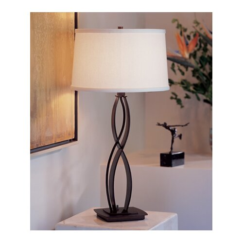 "Hubbardton Forge Almost Infinity 18"" H Table Lamp with Empire Shade"
