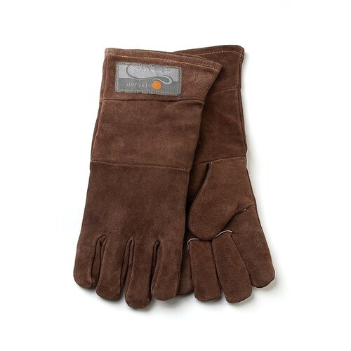 Leather Grill Glove in Brown (Set of 2)