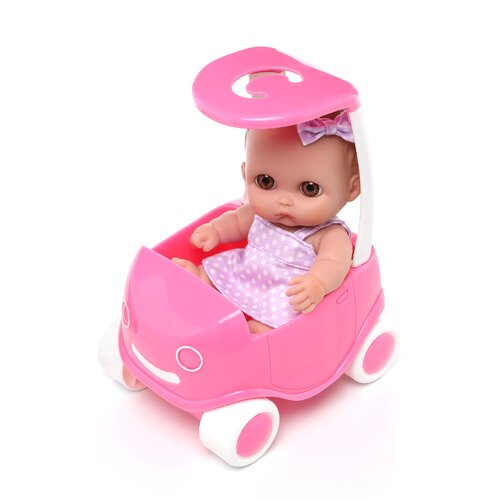 JC Toys Designed By Berenguer Lil' Cutesies in Play buggy
