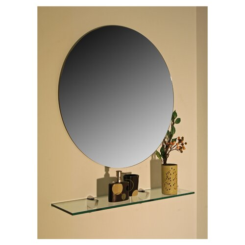 spancraft glass regency round frameless wall mirror. Black Bedroom Furniture Sets. Home Design Ideas