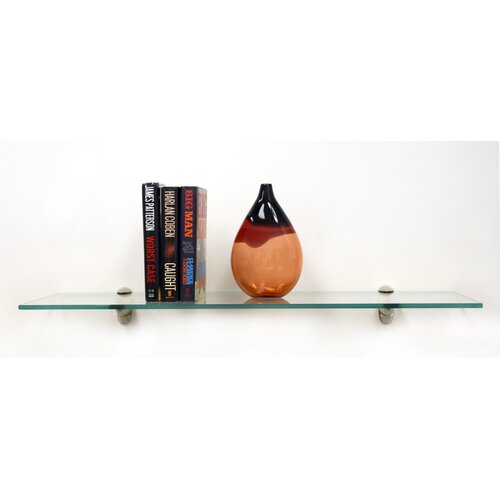 Spancraft Glass Floating Glass Bathroom Shelf