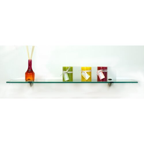 "Spancraft Glass Starling Floating Glass 27.5"" x 0.31"" Bathroom Shelf"