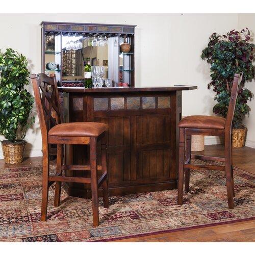 Sunny designs santa fe bar with wine storage reviews for Santa fe designs