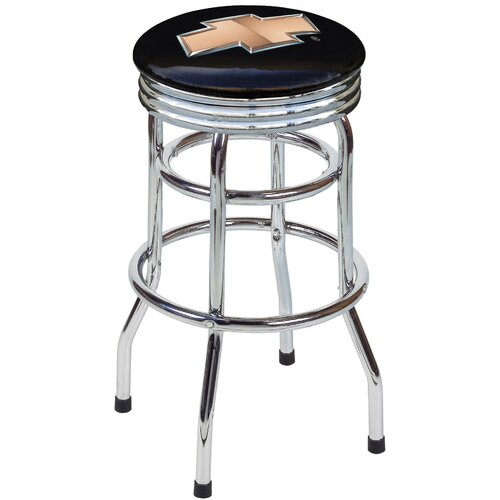 "On The Edge Marketing Chevrolet 30.5"" Swivel Bar Stool"