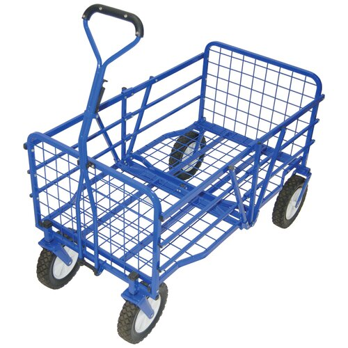 Outdoor Folding Utility Cart in Blue