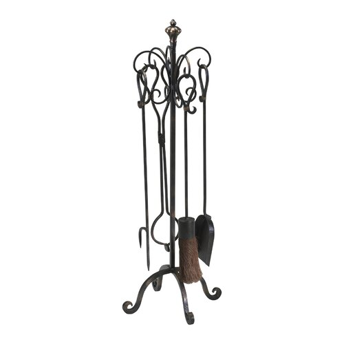 4 Piece Iron Fireplace Tool Set