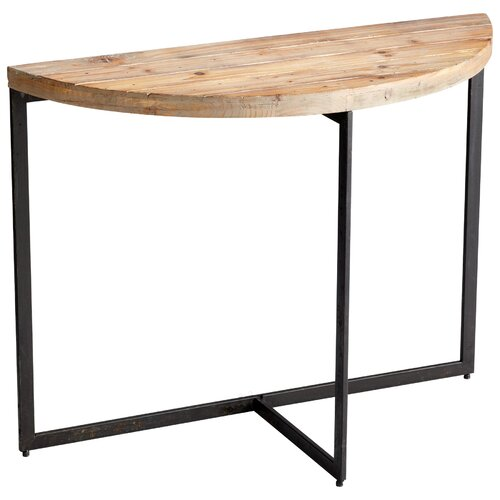 Taro Console Table in Raw Iron / Natural Wood