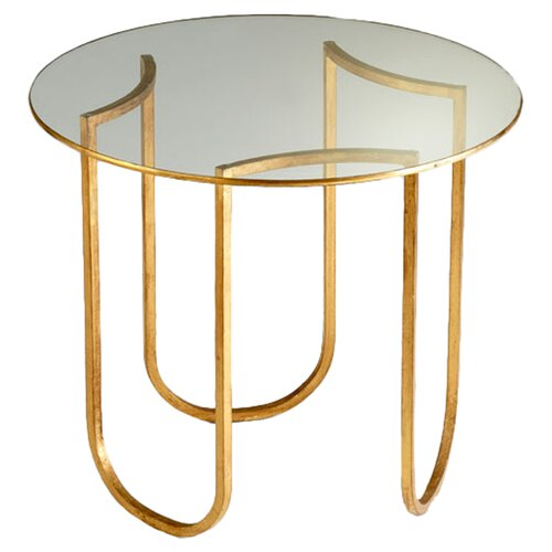 Vincente Side Table in Gold Leaf