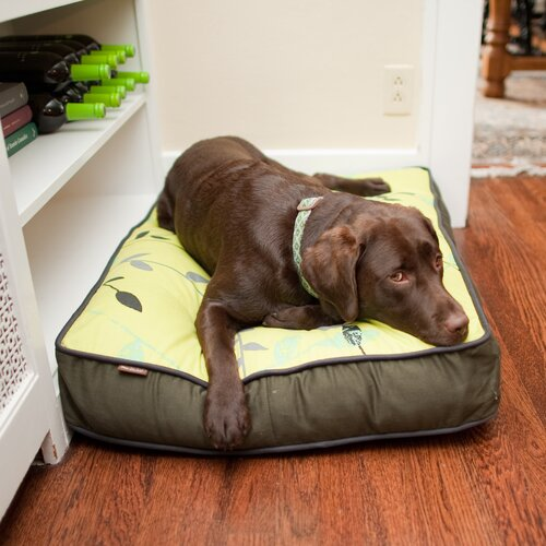 Backyard Greenery Rectangular Dog Pillow