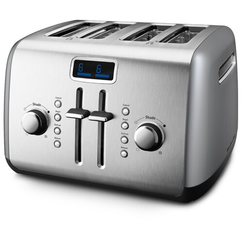 4-Slice Manual High-Lift Toaster with LCD Display