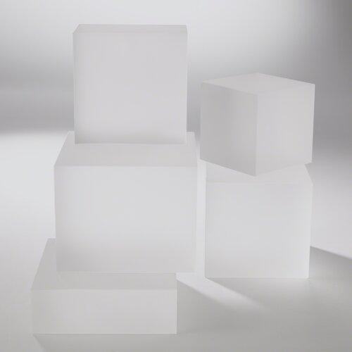 Crystal Cube Riser Sculpture