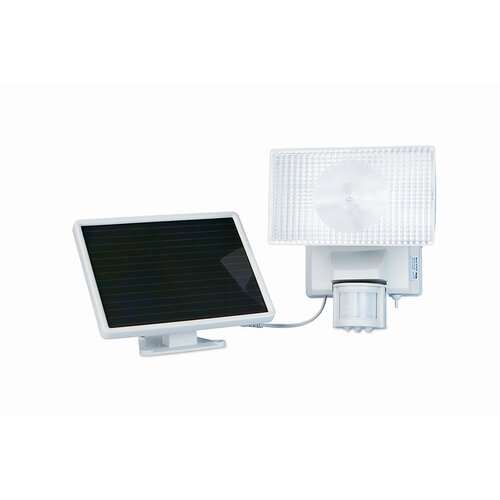 Maxsa Innovations Solar Powered Motion-Activated Outdoor Security Floodlight