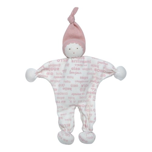 Hello Goodbye Print Baby Buddy Toy