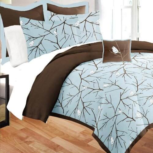 Bird on Branch 8 Piece Bed in a Bag Set