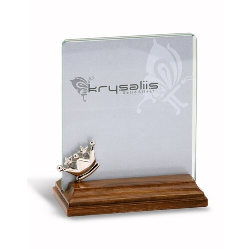 Krysaliis Majestic Sterling Silver and Wood Picture Frame