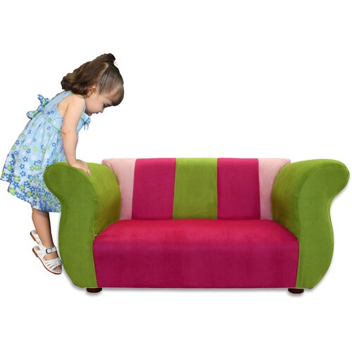 Fantasy Furniture Kid's Fancy Microsuede Sofa