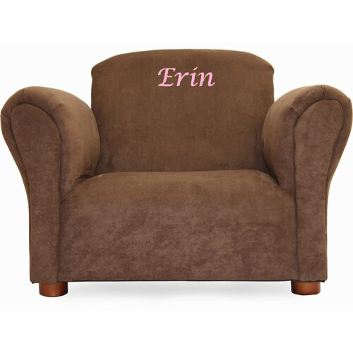 Little-Furniture Personalized Kid's Microsuede Mini Chair