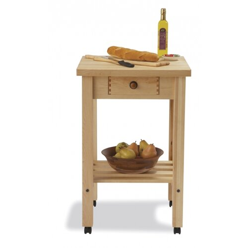 Snow River Arts and Crafts Kitchen Cart